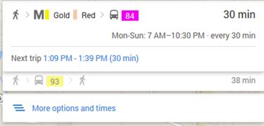mass transit time