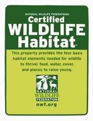 National Wildlife Federation's Certified Wildlife Habitat