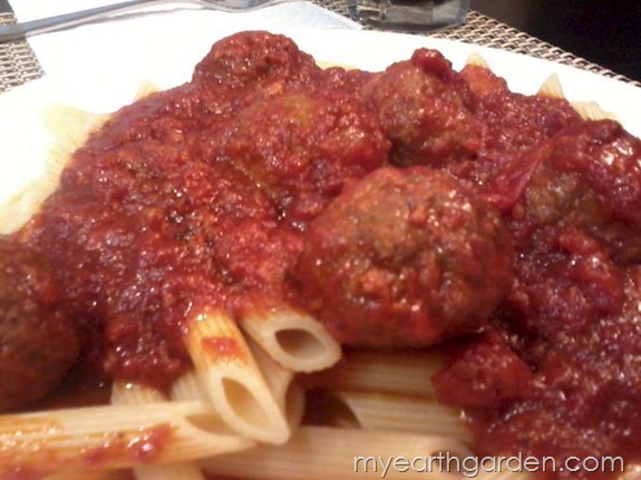 My Earth Garden: Michael Nolan's Meatballs in Marinara