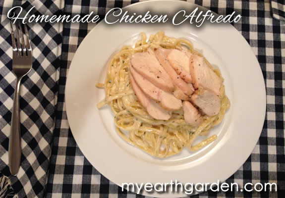 Homemade Chicken Alfredo